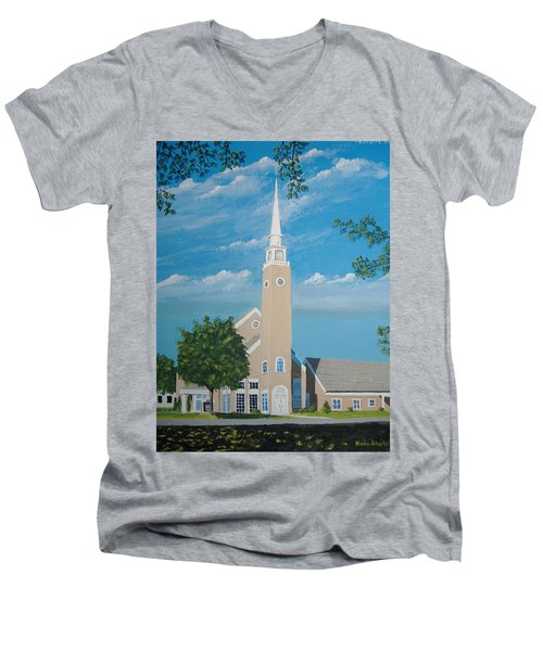First Congregational Church Men's V-Neck T-Shirt