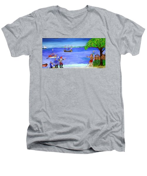 First Encounter Men's V-Neck T-Shirt