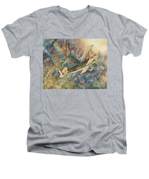 First Over The Front Men's V-Neck T-Shirt