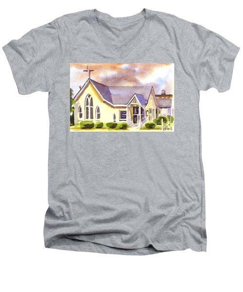 First Presbyterian Church Ironton Missouri Men's V-Neck T-Shirt by Kip DeVore