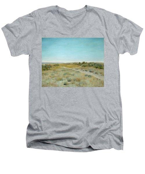 First Touch Of Autumn Men's V-Neck T-Shirt