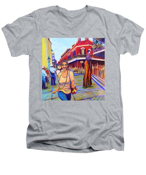 First Trip To New Orleans Men's V-Neck T-Shirt