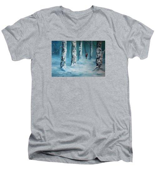 First Trodden Snows Men's V-Neck T-Shirt