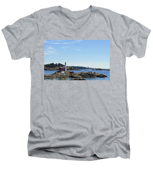 Fisgard Lighthouse Men's V-Neck T-Shirt