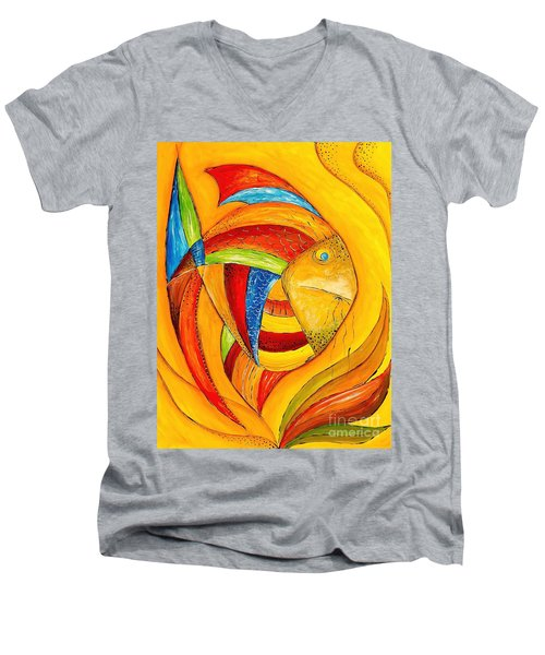 Fish 428-08-13 Marucii Men's V-Neck T-Shirt