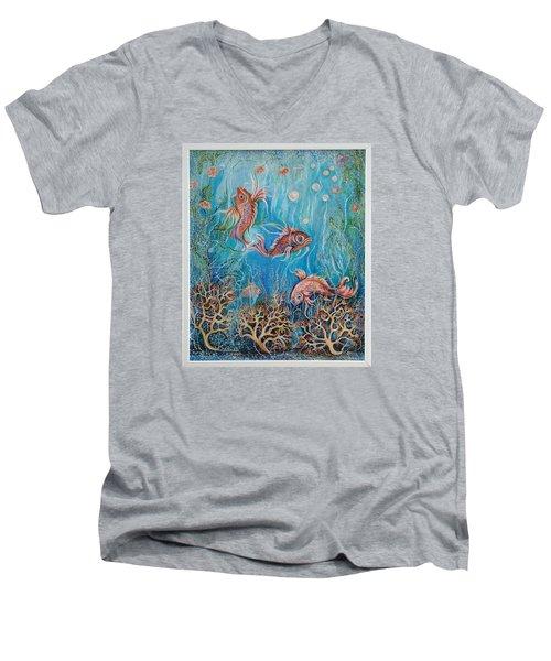Fish In A Pond Men's V-Neck T-Shirt