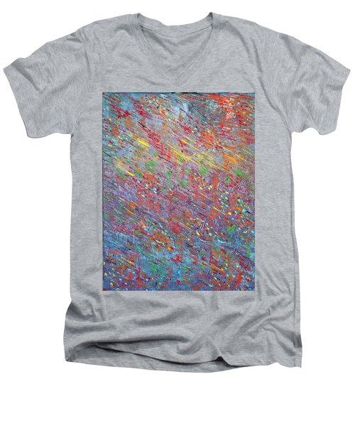 Fish To The Top Men's V-Neck T-Shirt by George Riney