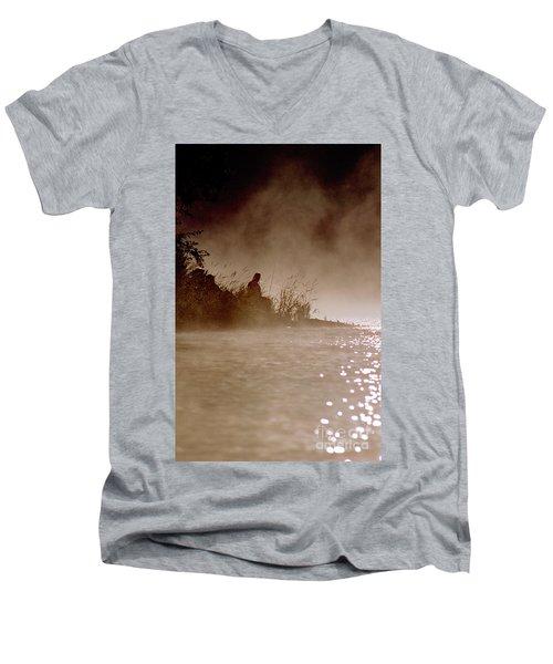 Fisher In The Mist Men's V-Neck T-Shirt