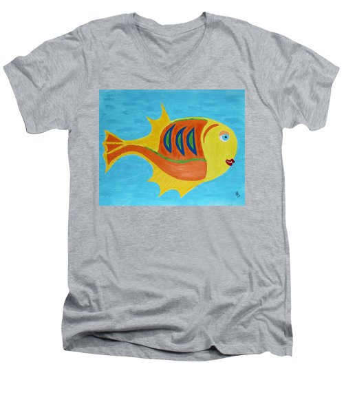 Fishie Men's V-Neck T-Shirt