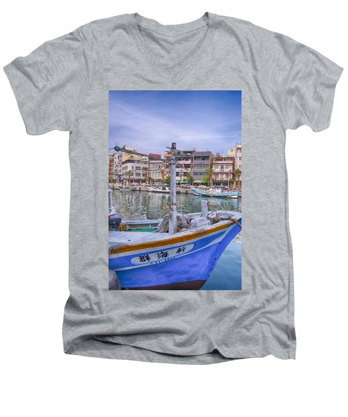 Fishing Boat Men's V-Neck T-Shirt