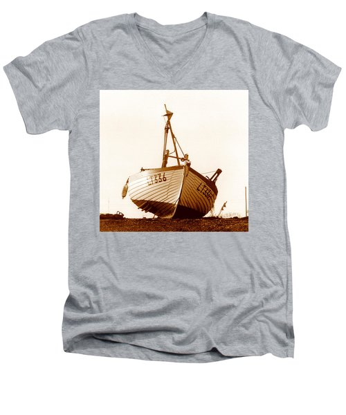 Men's V-Neck T-Shirt featuring the photograph Fishing Boat by Peter Mooyman