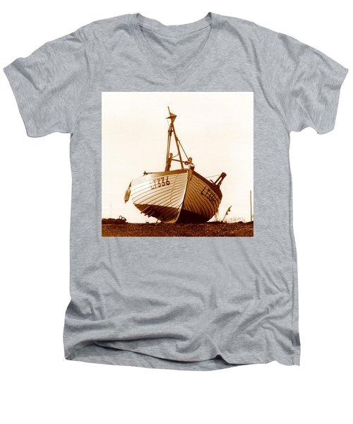 Fishing Boat Men's V-Neck T-Shirt by Peter Mooyman