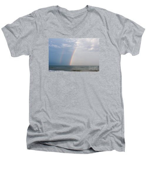 Fishing For A Pot Of Gold Men's V-Neck T-Shirt