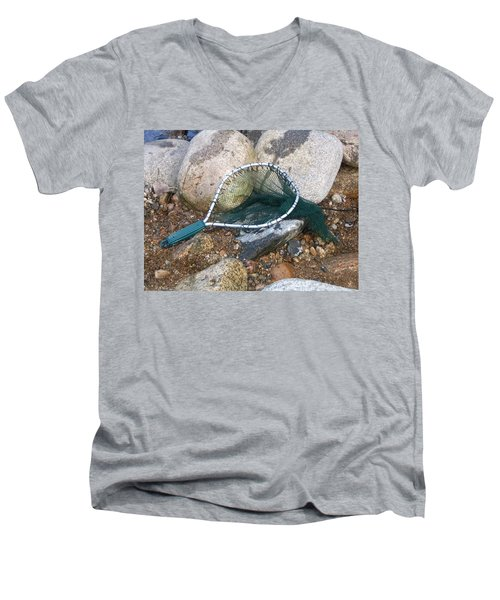 Fishing Net Men's V-Neck T-Shirt