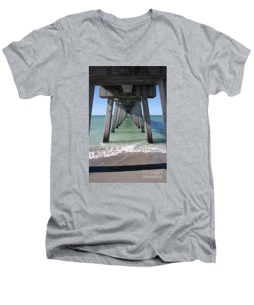 Fishing Pier Architecture Men's V-Neck T-Shirt