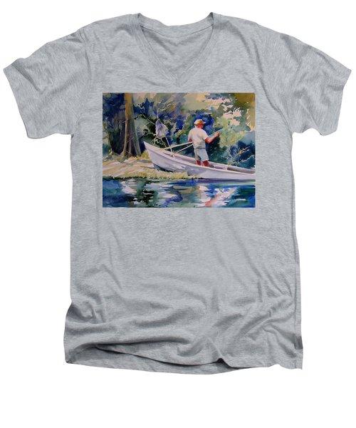 Fishing Spruce Creek Men's V-Neck T-Shirt