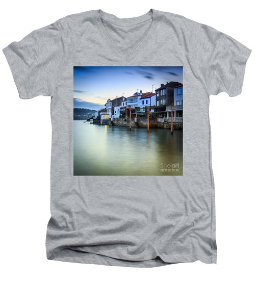 Fishing Town Of Redes Galicia Spain Men's V-Neck T-Shirt