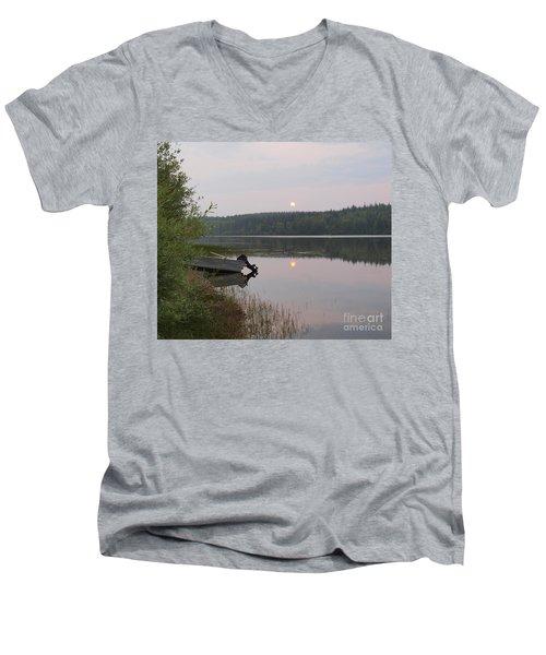 Fishing Tranquility Men's V-Neck T-Shirt
