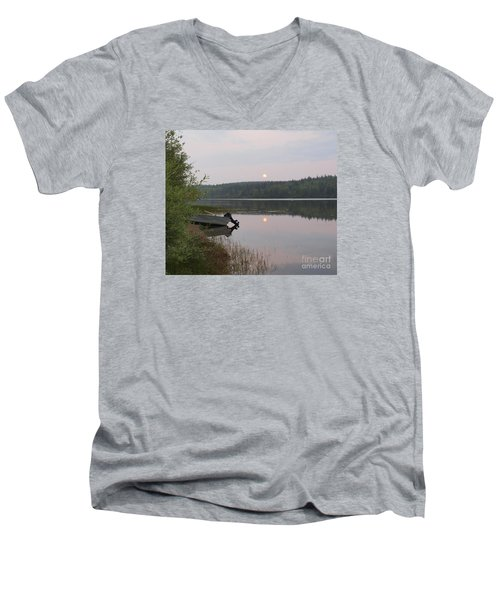 Fishing Tranquility Men's V-Neck T-Shirt