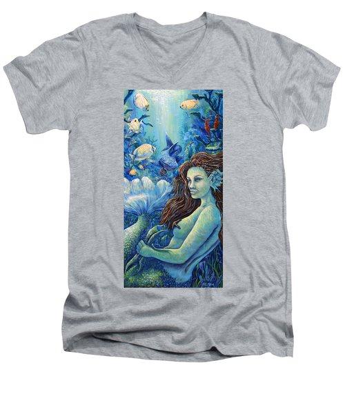 Fishy Business Men's V-Neck T-Shirt by Gail Butler