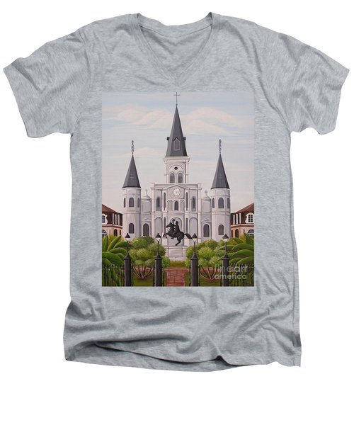 Five Fifteen In New Orleans Men's V-Neck T-Shirt