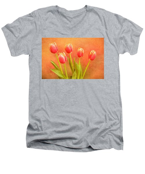 Five Tulips Men's V-Neck T-Shirt