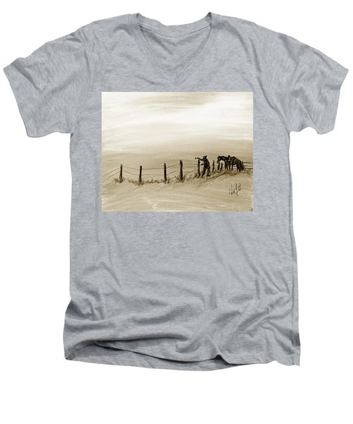 Fix On The Prairie Men's V-Neck T-Shirt