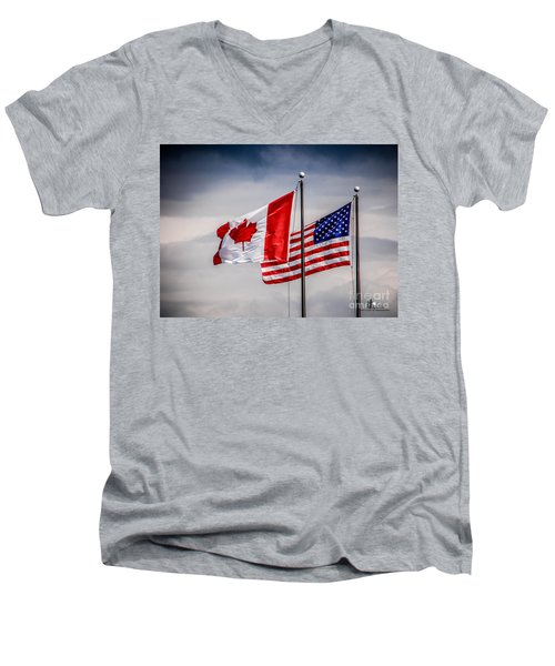 Flag Duo Men's V-Neck T-Shirt