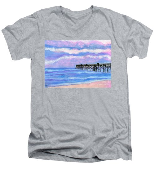 Flagler Beach Pier Men's V-Neck T-Shirt