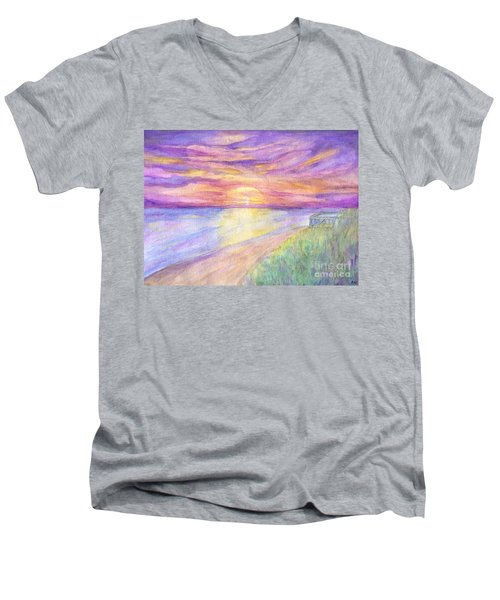 Flagler Beach Sunrise Men's V-Neck T-Shirt