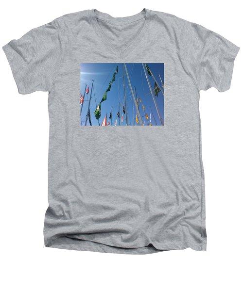 Flags Men's V-Neck T-Shirt