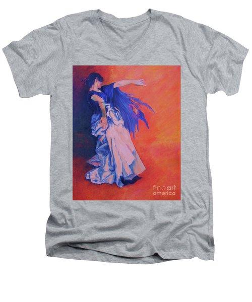 Flamenco-john Singer-sargent Men's V-Neck T-Shirt
