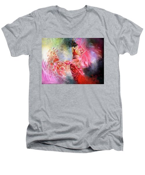 Flamencoscape 13 Men's V-Neck T-Shirt
