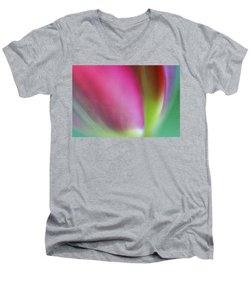 Flaming Tulip Men's V-Neck T-Shirt
