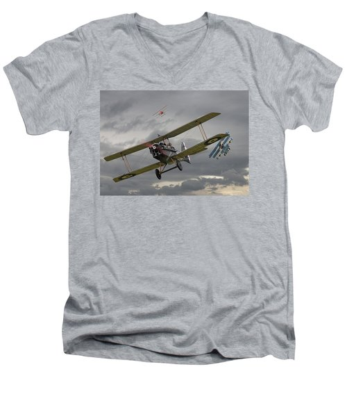 Flander's Skies Men's V-Neck T-Shirt