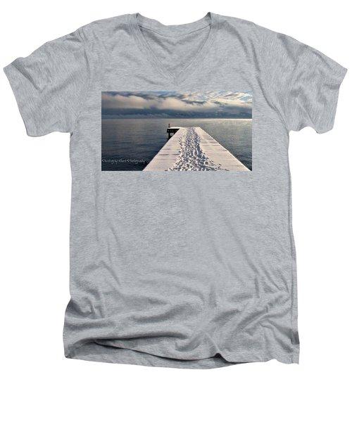 Flathead Lake Men's V-Neck T-Shirt