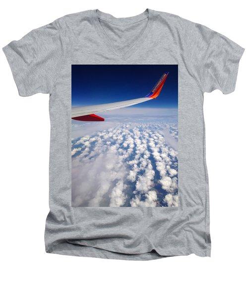 Flight Home Men's V-Neck T-Shirt by Debra Martz