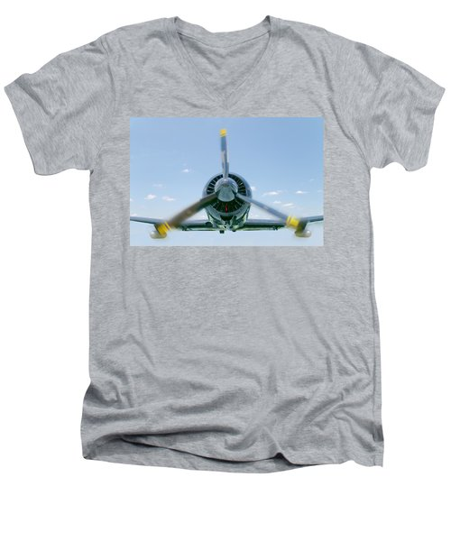 Flight In Color Men's V-Neck T-Shirt
