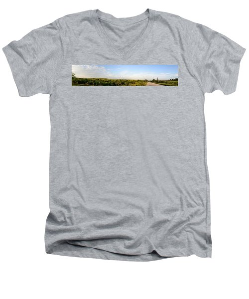Flint Hills 2 Men's V-Neck T-Shirt