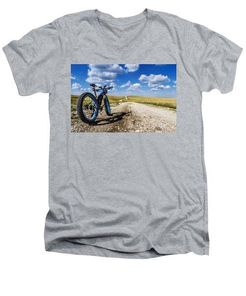 Flint Hills Fall Fatbike Ride Men's V-Neck T-Shirt