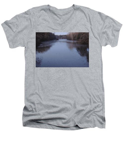 Men's V-Neck T-Shirt featuring the photograph Flint River 1 by Kim Pate