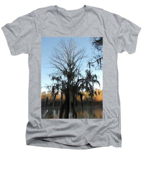 Men's V-Neck T-Shirt featuring the photograph Flint River 13 by Kim Pate