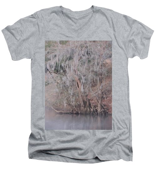 Men's V-Neck T-Shirt featuring the photograph Flint River 2 by Kim Pate