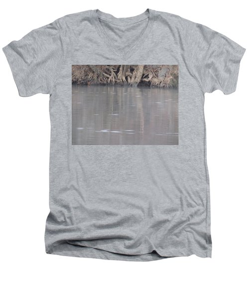 Men's V-Neck T-Shirt featuring the photograph Flint River 6 by Kim Pate