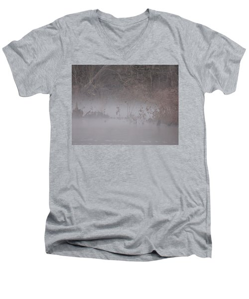 Men's V-Neck T-Shirt featuring the photograph Flint River 7 by Kim Pate
