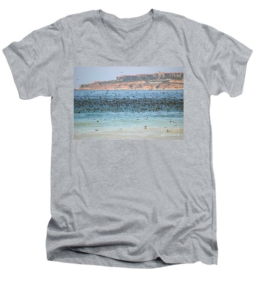 Flocking At Terranea Men's V-Neck T-Shirt