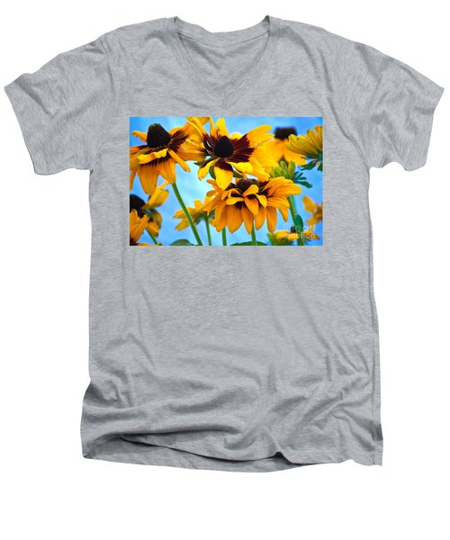 Floral 1 Men's V-Neck T-Shirt