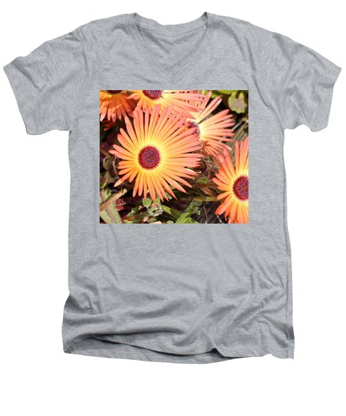 Men's V-Neck T-Shirt featuring the photograph Floral by Cathy Mahnke