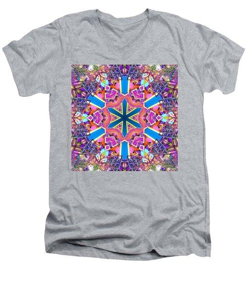 Floral Dreamscape Men's V-Neck T-Shirt