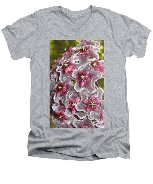 Floral Presence - Signed Men's V-Neck T-Shirt